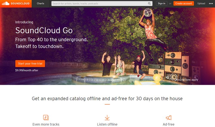 Souncloud lanza servicio de streaming de música para competir con Spotify, Amazon Prime, Apple Music y otros