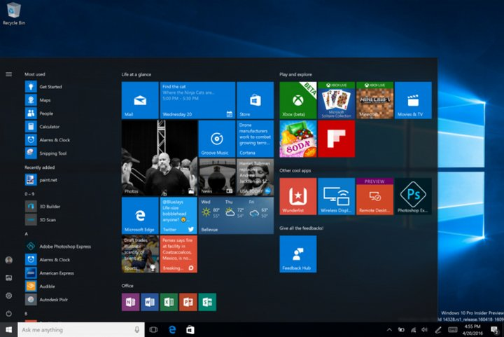 Microsoft lanza el build 14367 de Windows 10 Insider Preview para PC y móviles