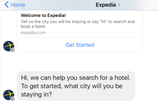 expedia-bot-facebook-messenger