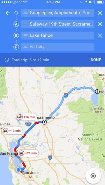 Destinos múltiples Google Maps