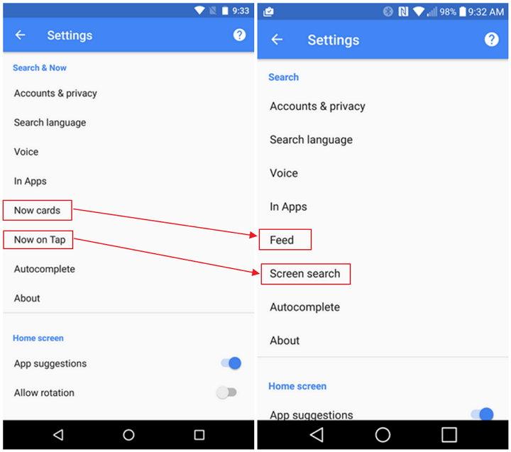 Buscador de Google - Now - Google Assistant