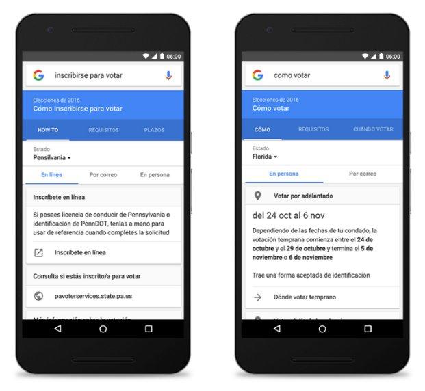 Google - Elecciones Presidenciales