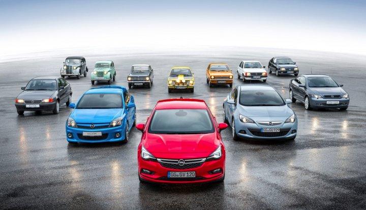 80 años de compactos de Opel, desde el Kadett 1936 hasta el Astra K 2016