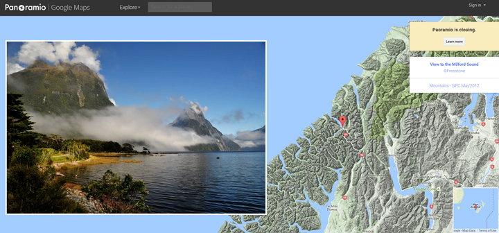Google cerrará Panoramio el próximo 4 de Noviembre