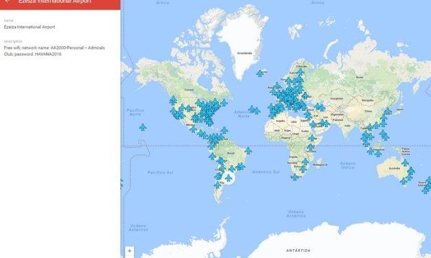 WiFox, Mapa y app móvil con datos sobre WiFi gratis en aeropuertos alrededor del mundo y las contraseñas