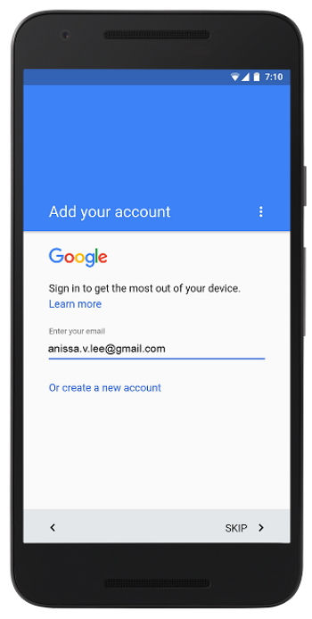 Android - Cuenta de Google