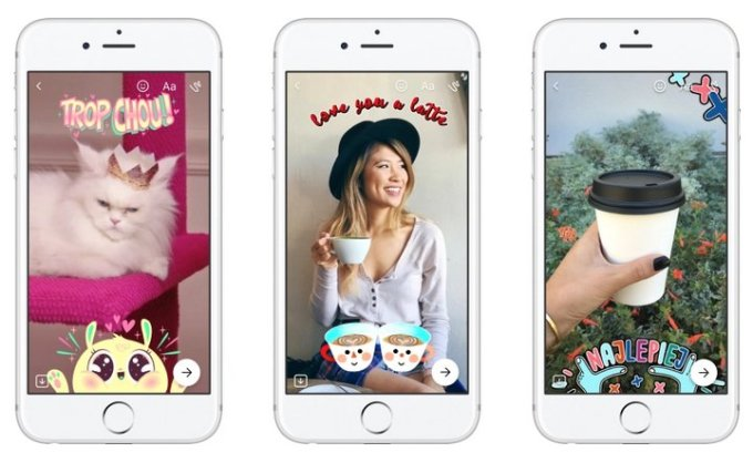 Facebook Messenger Stickers Efectos