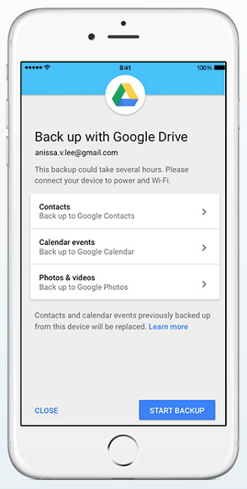 iPhone Google Drive Backup