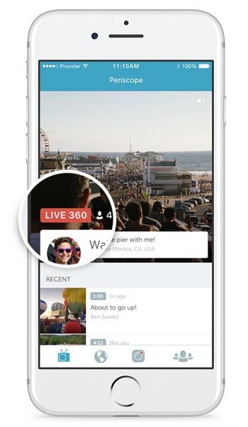 Periscope - Vídeo de 360 grados