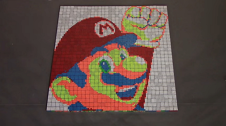 Alucinante vídeo stop motion de Super Mario Bros. con cubos de Rubik