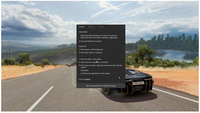 Windows 10 Modo Juegos