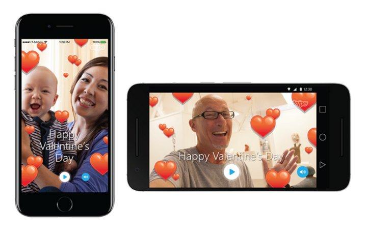 Skype se prepara para el día de los enamorados con nuevos mojis, emoticonos y tarjetas virtuales