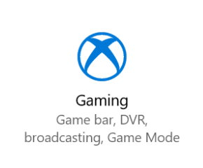 Windows 10 Insider Preview - Icono de Configuración de Juegos