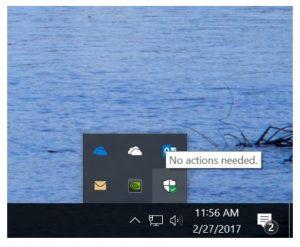 Windows 10 Insider Preview - Icono de Windows Defender
