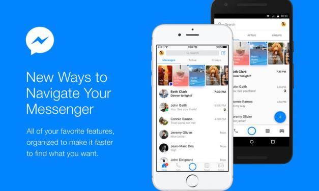 Actualizan Facebook Messenger para simplificar la navegación
