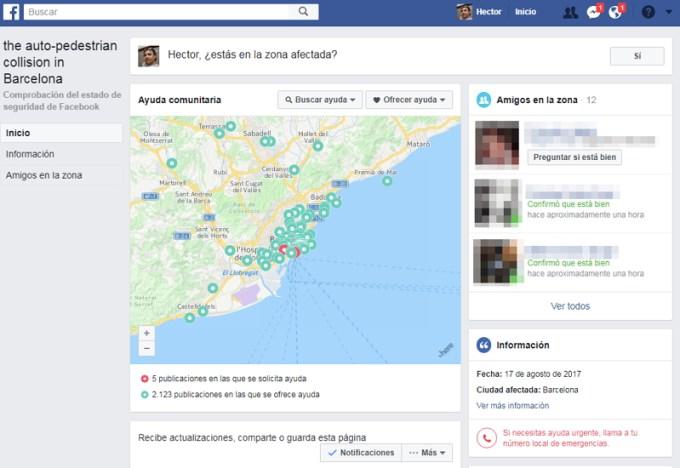 Facebook - Comprobación del Estado de Seguridad - Barcelona