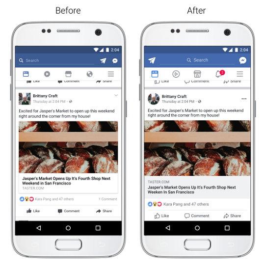 Facebook - Feed de Noticias - Legibilidad