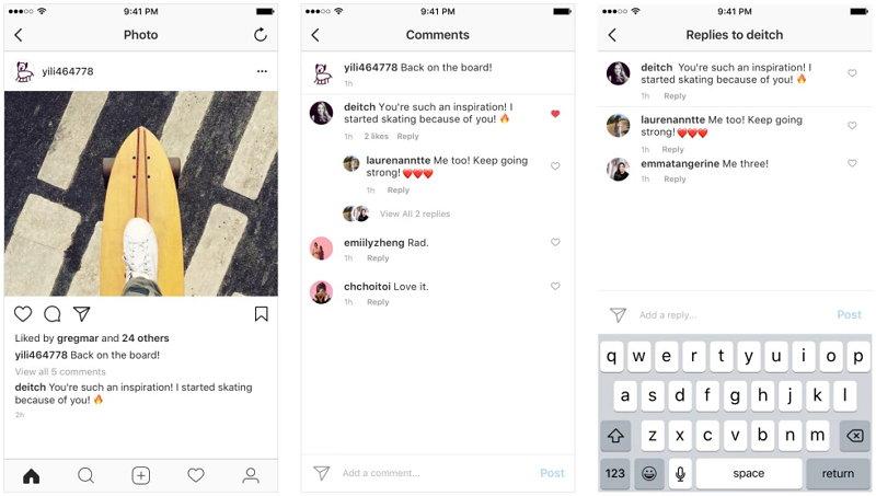 Instagram - Comentarios Anidados