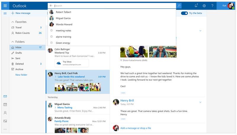 Microsoft - Outlook.com Beta