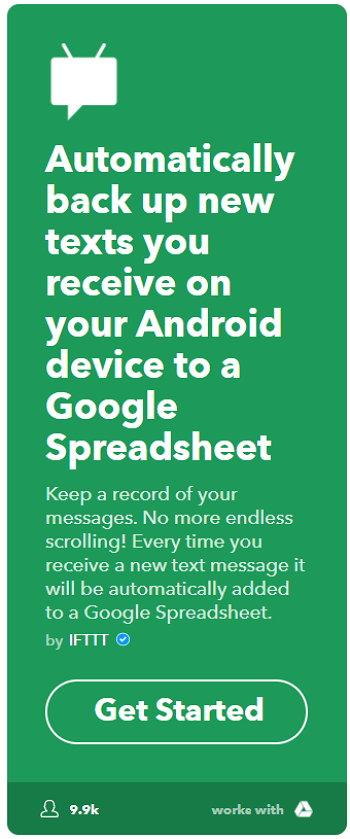 IFTTT - Android - Mensajes de Texto