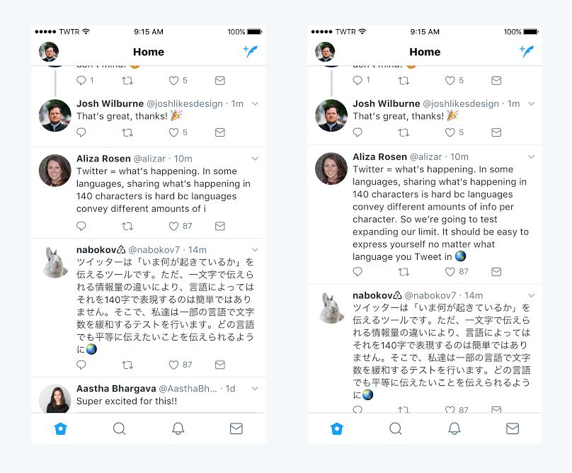 Twitter - Tweets de 280 Caracteres