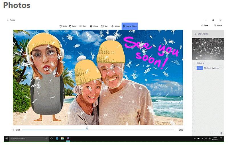 Microsoft Windows 10 Fotos