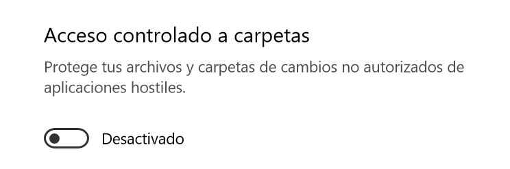 Windows 10 - Acceso Controlado a Carpetas