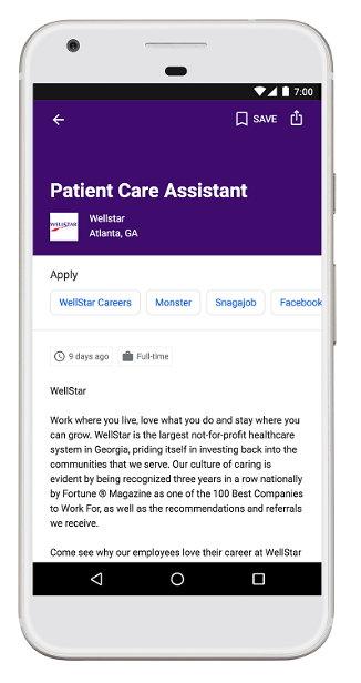 Google for Jobs - Servicios