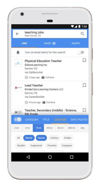 Google for Jobs - Filtro de Ubicación