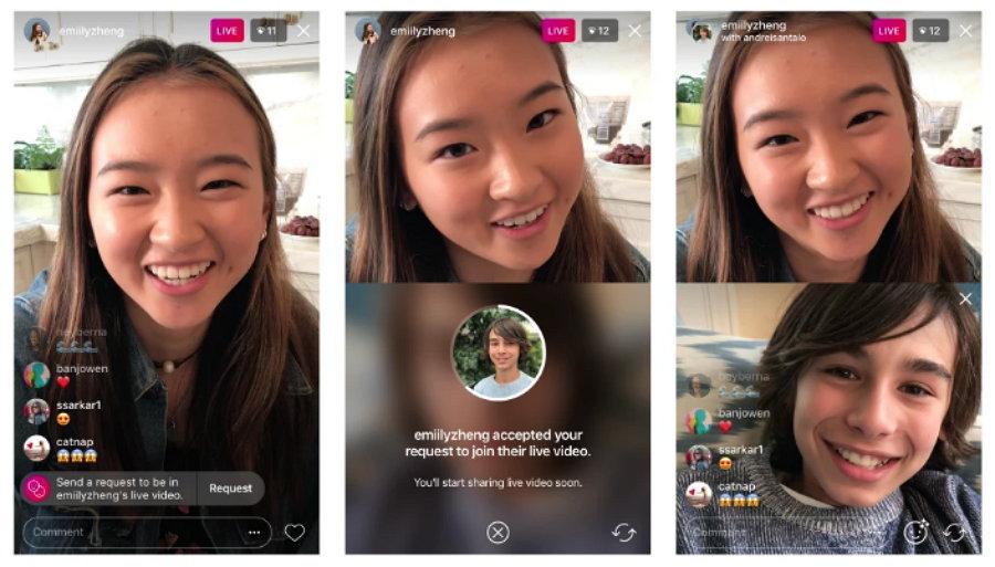 Instagram - Solicitar Transmitir en Tiempo Real