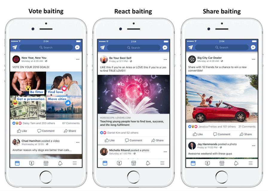 Facebook - Engadgement Baiting