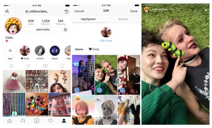 Instagram - Historias Destacadas