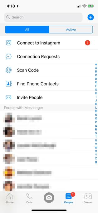 Instagram - Messenger - Importar Contactos