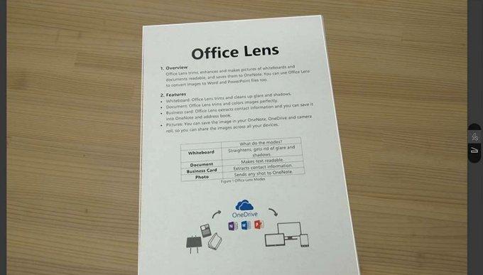Microsoft OneNote - Office Lens