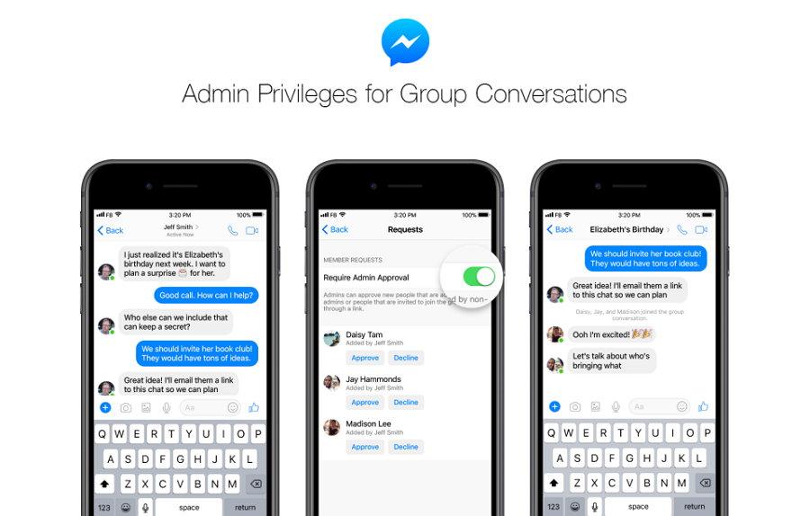 Facebook Messenger - Administración de Grupos
