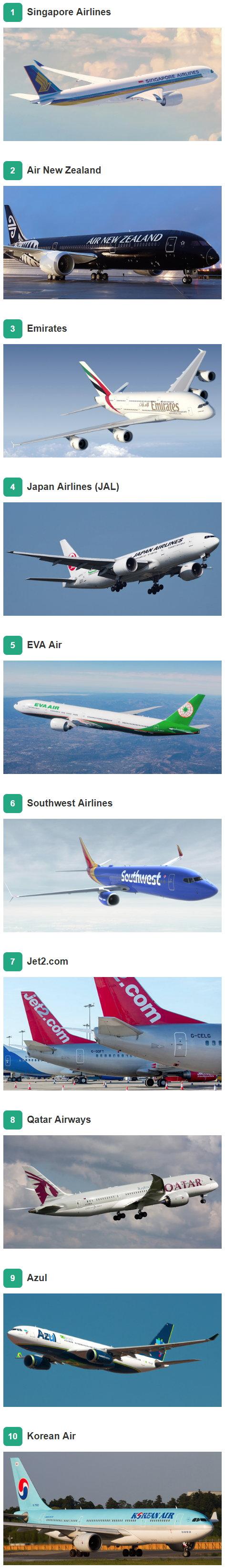 10 mejores aerolíneas del mundo - TripAdvisor