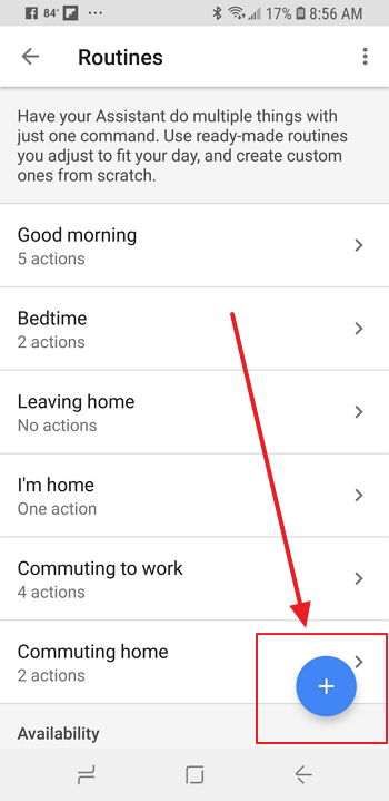 Asistente de Google - Home - Programar Rutinas