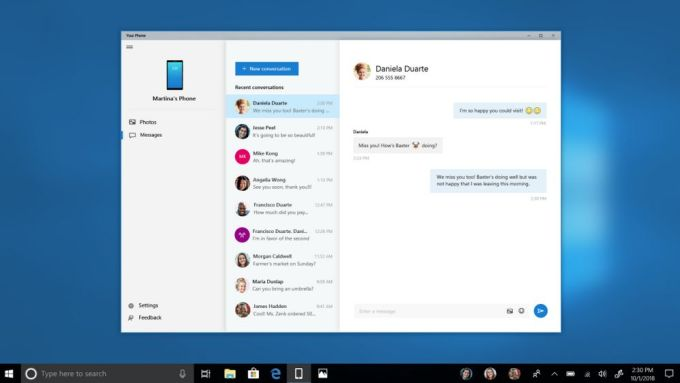 Microsoft Your Phone Windows 10 - Android