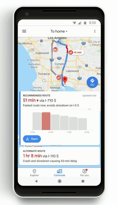 Google Maps - Viajes de Rutina Diarios