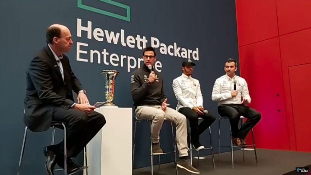 HPE Discover 2018 Madrid - HPE and Mercedes AMG Petronas - Lewis Hamilton - Toto Wolff - Matt Harris