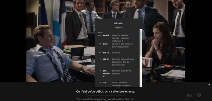 Learning Languages with Netflix