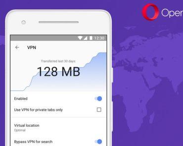 Opera para Android - VPN Gratis