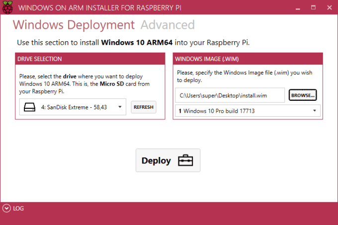 WoA Installer - Windows 10 ARM - Raspberry Pi 3