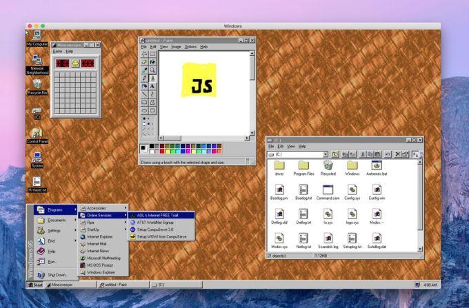 Windows 95 - Aplicación Electron
