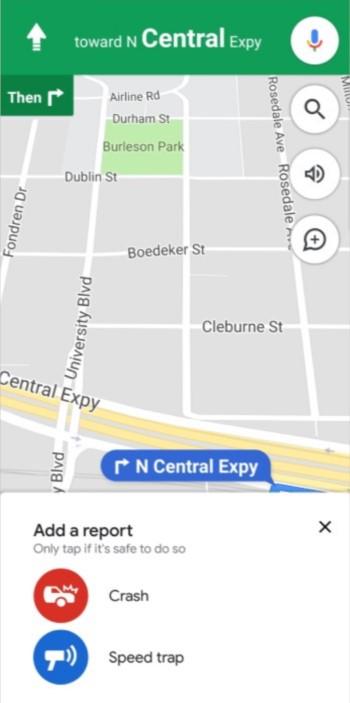 Google Maps - Reporte de Incidentes
