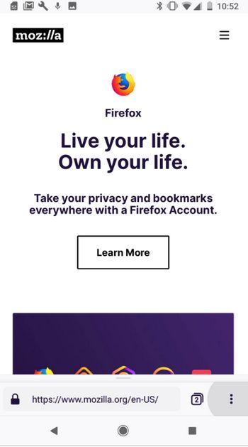 Mozilla Firefox Quantum Android