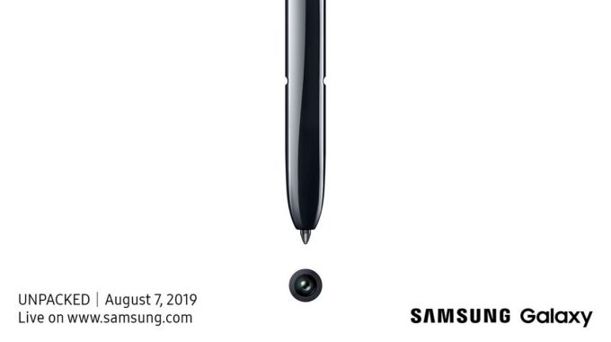 Samsung Unpacked 2019 - Galaxy Note 10
