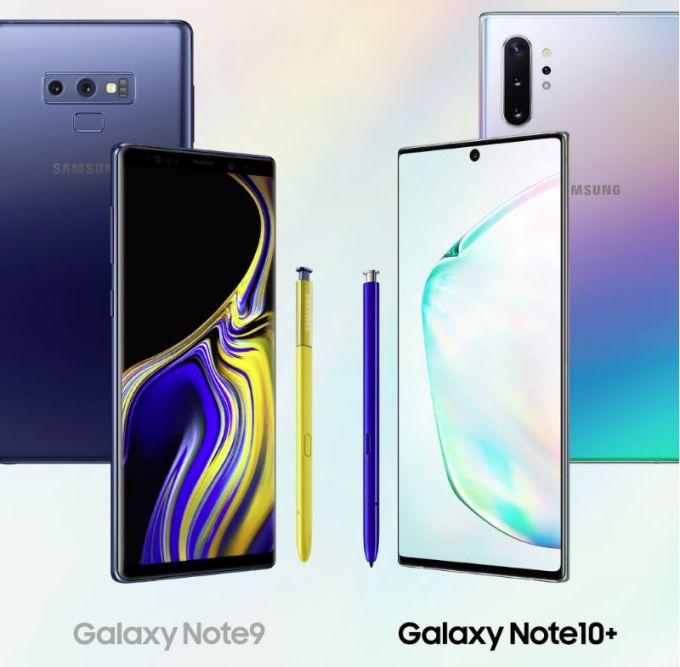 Galaxy Note 9 vs Galaxy Note 10+
