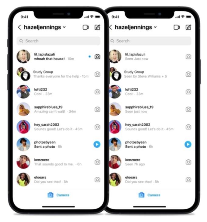 Instagram - Estados de la Bandeja de Entrada