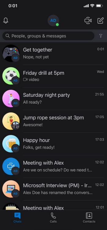 Skype - Nombre e Icono en Video Llamadas